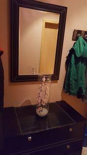 Kommode mit Spiegel 2 Nachttischlampen