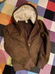 Rubbish hooded jacket brown wool