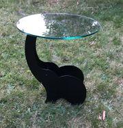 Beistelltisch Elefant Metall schwarz runde