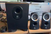 Logitech Stereo-PC-Lautsprechersystem Z313 neuwertig Musikleistung