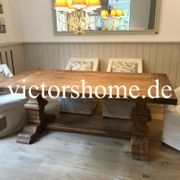 Klostertisch Esstisch Hartholztisch Teak Küchentisch