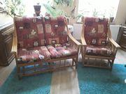 Schöne Rattan Sitzgarnitur Sessel und