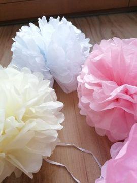 Alles für die Hochzeit - Papier Blumen Ball