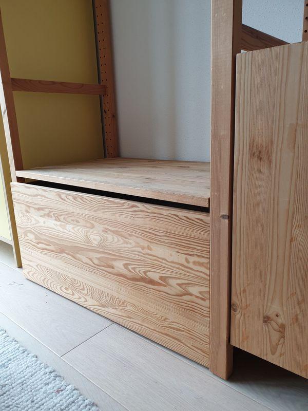 IKEA Ivar Rollbox - Aying Dürrnhaar - B83/T50, wird unter das unterste Regalbrett geschoben, ohne Regalbrett. - Aying Dürrnhaar
