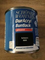 Schöner Wohnen DurAcryl Buntlack schwarz
