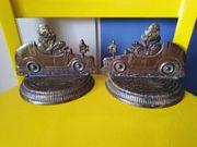 Buchstützen Indien Metall witzige Darstellung