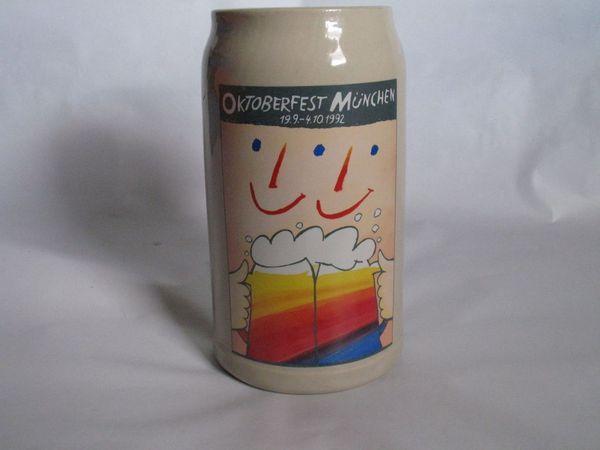 Offizieller Oktoberfestkrug 1992 Sammelkrug 1