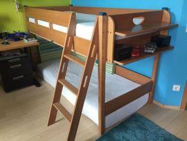 Kinder-/Jugendzimmer - Paidi Kinderhochbett Varietta in Buche