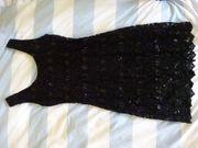 Abendkleid Pailletten schwarz Gr 38