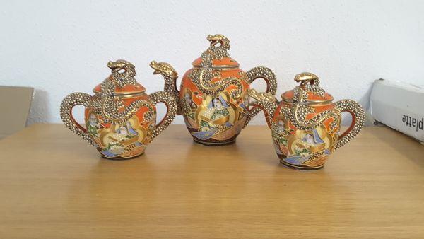 Asiatisches chinesisches japanische Teeservice- Porzellan-