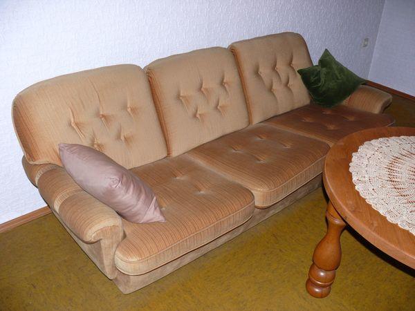 Sofa u 2 Sessel Velour