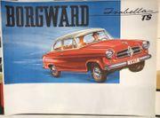Altes Reklame Plakat Borgward Isabella