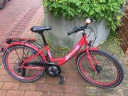 Rotes Mädchen-Fahrrad 24 Zoll