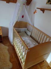 Gitterbett-Komplett-Set von roba in Holzoptik