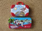 Kinderspielzeug Reisekoffer und Spielebox ohne