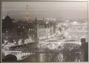 Bild Paris mit Rahmen 1m
