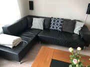Eck - Leder - Couch schwarz top