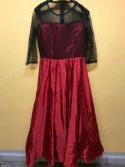 Rot/schwarzes Abendkleid,