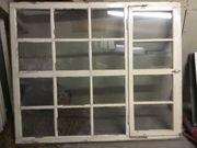 8 Holzfenster teils Antik verschiedene