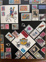 Briefmarken-Album mit ca 420 österreichischen