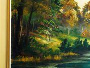 Großes Antik-Gemälde v FEIL um