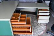 Schreibtisch Profi 150x70x75 150x60x64 Transport