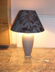 Tischlampe grau aus früherer Zeit