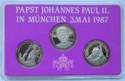 Gedenk Münze 2x Papst Johannes