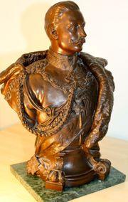 große Bronze-Büste Kaiser Wilhelm II