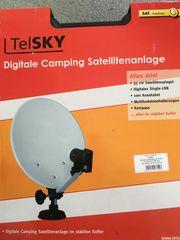 Camping Satellitenanlage Digital mit Stativ