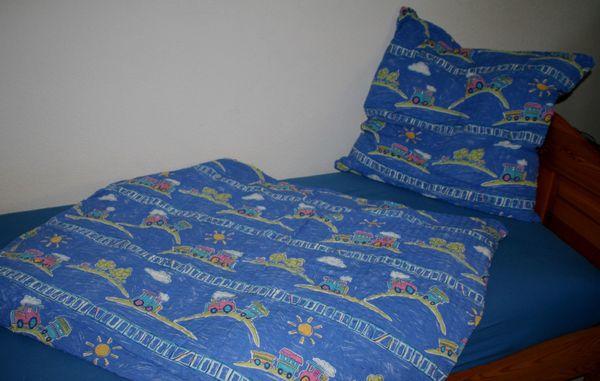 Neu Blau Bunte Kinder Bett Wasche Set Eisenbahn Neu In