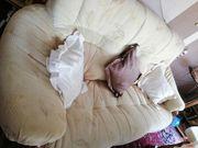 Couchgarnitur hochwertiges Eichengestell 3 2