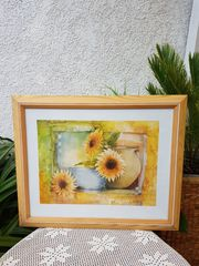 Wunderschönes Bild Stilleben mit Sonnenblumen