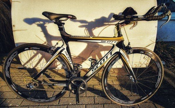 SCOTT Carbon Triathlon-Zeitfahrrad Gr S