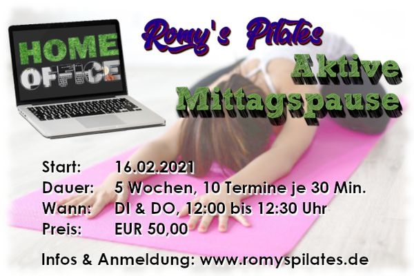 Aktive Mittagspause - Fit mit Pilates -
