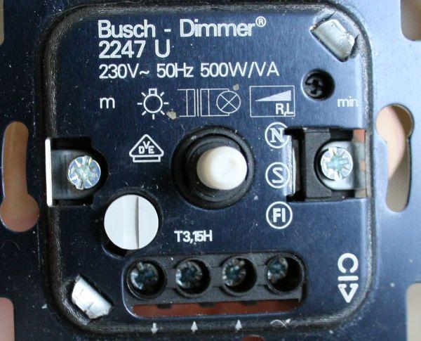 6 neue Busch-Jäger Dimmer 6513