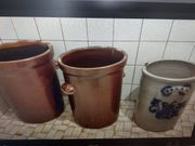 Pflanzkübel Blumenkübel Steintopf Sauerkrautkübel