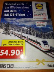 2 Bahntickets deutschlandweit hin und