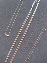 Silberhalsketten 835 verschiedene
