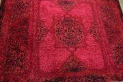 Teppich rot Hochflor