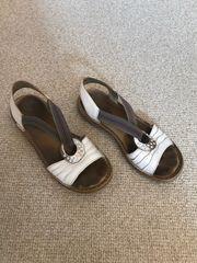 Weiße Rieker Sandalen für Damen
