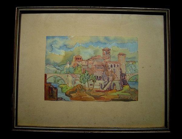 3 hochwertige alte Gemälde sig
