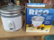 Reiskocher mit Dampfgaraufsatz