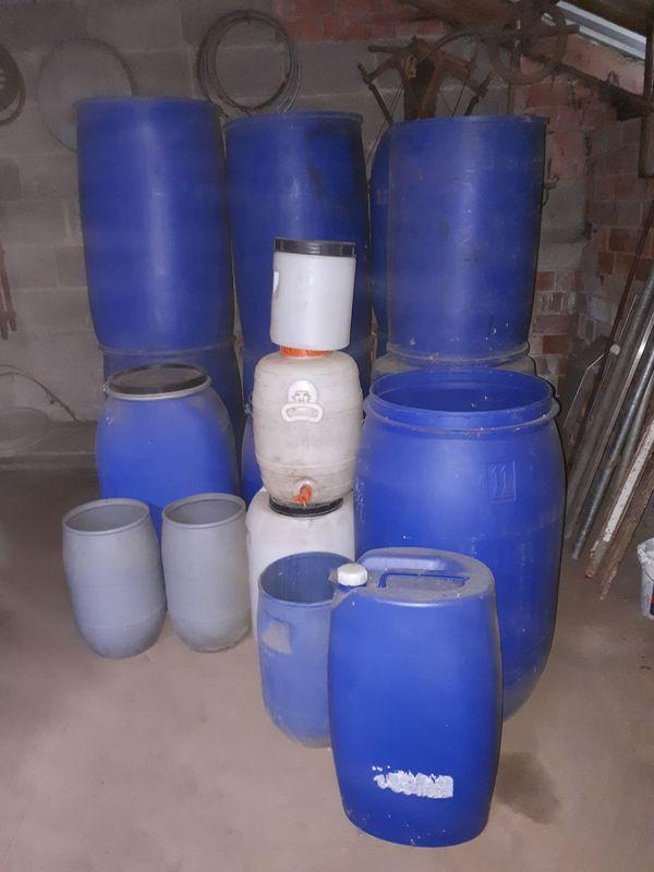 Kunststofffässer Wasserfass Einschlagfässer Regenfass Fass