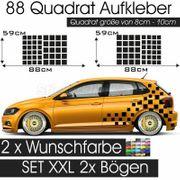 Zeilflagge Aufklebrer Auto Quadrat Racing
