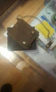 Browm Bear Ledergeldtasche
