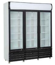 Glastürkühlschrank mit 3