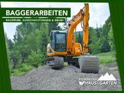 Baggerarbeiten Erdbau Tiefbau Baugrube Ausschachtung