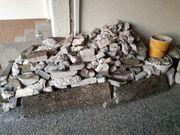 Steine aus Vorgarten-Mauerabriss
