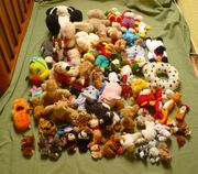 ca 60 Stofftiere Teddys Fingerpuppen